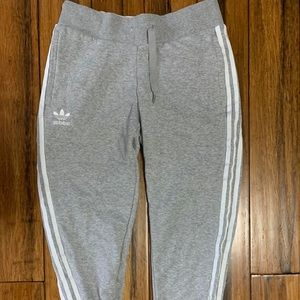 Gray Adidas joggers. Size M.
